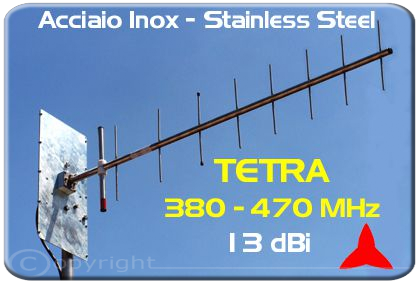 Protel Tetra Antenna AR1049.1XI 380-470MHz Stainless Steel