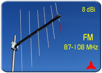 ARL0206 Logarithmic periodic  FM antenna 87.5 88 108 MHz Protel