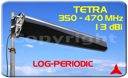 ARL3A1011.Z Broadband Logarithmic antenna for civil, military, and TETRA Broadcasting use 350 -470 MHz Protel