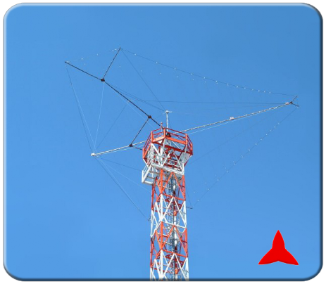 ARL530.1  Log-Periodic logarithmic directional antenna HF 2 - 30 MHz 7 dB