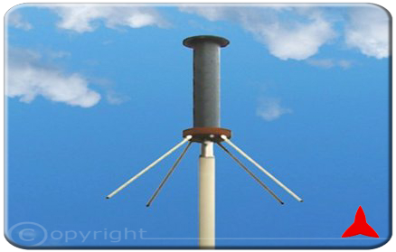 ARO3AL13X Protel Ground Plane Omnidirectional antenna UHF TETRA 380 - 430 MHz