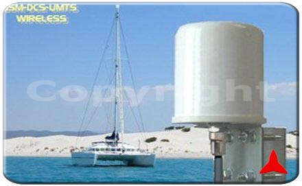 ARO68913.5XZ Omnidirectional FOUR-BAND antenna GSM-DCS-UMTS-WLAN HOT SPOT 870 - 960 MHz 1700 - 2500 MHz