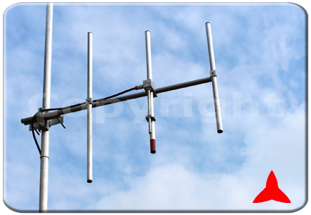 ARYCKM-C-37X NARROW-BAND FM Directional Yagi Antenna 3 elements 108 - 150 MHz Protel
