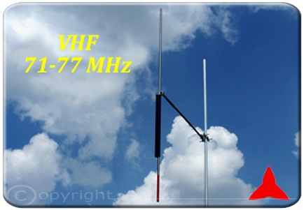 ARDCKM-A-7177 Omnidirectional Dipole Antenna 71-77 MHz  Protel