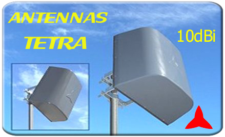 ARP400  Broadband panel antenna for civil, military, and TETRA use 380 -600 MHz