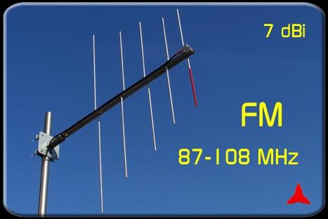 ARL0205 1 Logarithmic periodic FM antenna 87 5 -108 MHz Protel